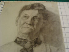 """vintage Drawing: OLDER MAN #2 signed BOWERS aprox 12 x 19"""" early 1900's GREAT"""
