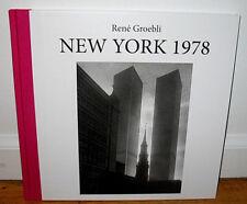 New SIGNED Rene Groebli New York 1978 City Manhattan Photographs 1st HC