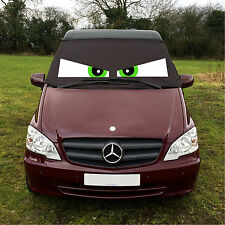 Mercedes Vito 639 Front Window Screen Cover Black Out Blind Frost Eyes Green