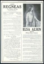 1927 Elsa Alsen photo & letter Joseph Regnas vocal coach vintage print ad