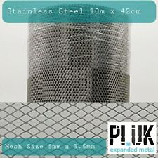 Expanded Stainless Steel Varroa Mesh Hive Beekeepers 42cm 10m Roll 0.5mm