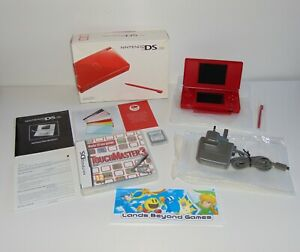 Nintendo DS Lite Red Handheld Console   USG-001   Boxed with Free Games Bundle