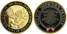 LAW ENFORCEMENT ST. MICHAEL PATRON SAINT OF POLICE OFFICERS PRAYER COIN