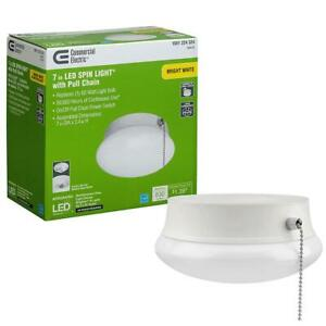 Commercial Electric Flush Mount Ceiling LED Spin Light 7-Inch
