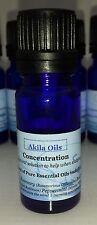 Concentration Essential Oil Blend 10ml Undiluted 100% Pure Burner Inhale Massage