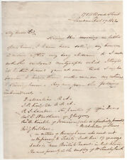 English Painter HENRY ROOM Autograph Letter Signed