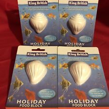 4x Vacation Holiday Fish Food Blocks For Upto 15 Tropical Coldwater Fish 14 Days