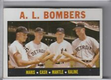 1964 TOPPS #331 A.L. BOMBERS MANTLE & MARIS & KALINE & CASH 6228B