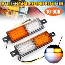 2X Bullbar Front 30 LED Indicator 10-30V DC Park Light Submersible Lamp AU AU