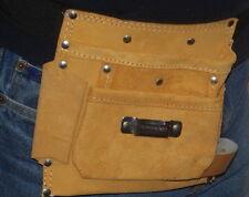 Bolsillo de cuero de gamuza Joyeros Portaherramientas Bolsa, hágalo usted mismo Craft zapateros y botineros Cintura Cinturón