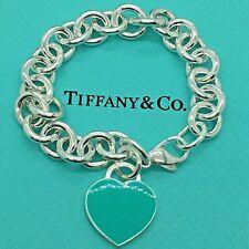 Sterling Silver Pulsera INSIGNIA CORAZÓN VERDE AG 925 Genuine Tiffany & Co. bag