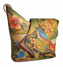 Anuschka Two For Joy Asymmetric Flap Crossbody Bag , Genuine Leather 257-TFJ