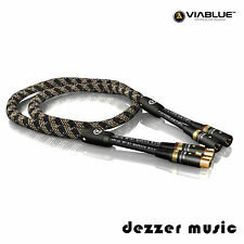 ViaBlue 1m NF-S1 Silver Quattro XLR-Kabel / Stereo 1,00m 1,0m/ High End Bestnote