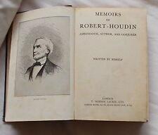 MEMOIRS OF ROBERT HOUDIN AMBASSADOR AUTHOR CONJUROR 1942 EDITION