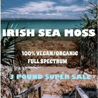 3 POUNDS IRISH SEA MOSS ORGANIC/ VEGAN ( FULL SPECTRUM) RAW OCEAN HARVESTED