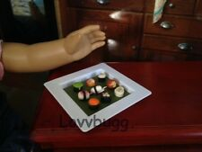 """Mini Sushi on a Plate! Doll Food  for 18"""" American Girl Doll or bjd Cool Stuff!"""