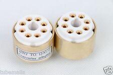 1piece*Gold plated 6SN7 6SL7 TO 12AU7 ECC82 12AX7 ECC83 tube  adapter  6.3V Heat