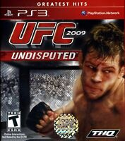 UFC Undisputed 2009 For PlayStation 3 PS3 Wrestling 5E