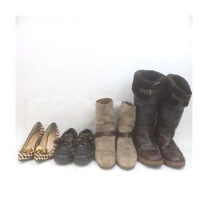 Louis Vuitton Leather Suede Unborn Calf Boots Pumps Sneakers 4prs set 525206