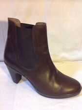 MANILA Brown Ankle Leather Boots Size 41