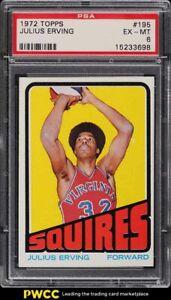 1972 Topps Basketball Julius Erving ROOKIE RC #195 PSA 6 EXMT