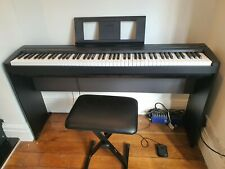 More details for piano digital yamaha p45 black with l85 matching stand and stool