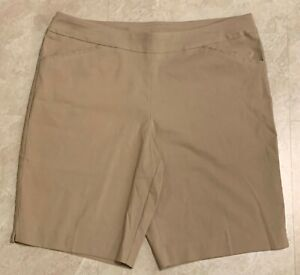 Women's Reg & Plus Size Stretch Bermuda Shorts L(12-14)-XL(16-18