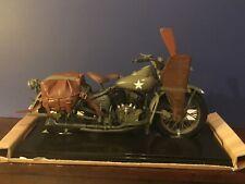 1998 HASBRO G.I JOE  HARLEY DAVIDSON WLA 45  MOTORCYCLE WITH DISPLAY BASE - 1/6