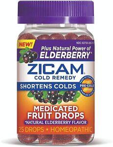 4 pack Zicam Cold Remedy Medicated Fruit Gummies Natural Elderberry 25x4= 100 ct