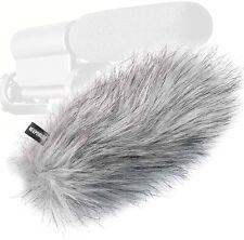 KEEPDRUM WS-WH Fell-Windschutz für Videomikrofon Camcorder Richtrohr-Mikrofon