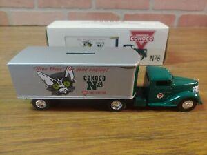 Vintage ERTL 1948 Tractor Trailer Bank CONOCO Nth MOTOR OIL CAT # 7573 NEW