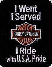 """HARLEY-DAVIDSON Toppa/STEMMA """" I SERVITO I Ride """" TOPPA em1239882"""