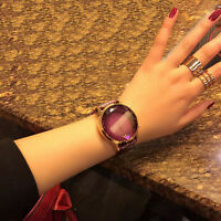 New Women's Fashion Leather Band Analog Quartz Round Wrist Watch Watches