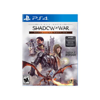 Middle-Earth Shadow of War Definitive Edition PlayStation PS4 US English Sealed