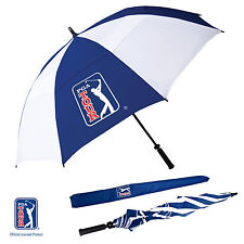New PGA TOUR Windproof Double Canopy Golf Umbrella Auto Button Quick Opening