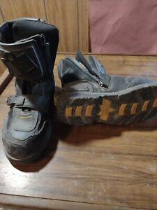 ICON FIELD ARMOR BOOTS MEN'S SIZE 12 CHOPPER MOTORCYCLE BLACK