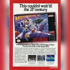 Super Nintendo SNES Capcom MEGA MAN X video game magazine print ad page