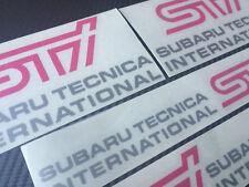 Subaru STI  Fog Lamp Cover decals / side sti decals Stickers Full kit