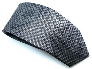 """Ben Sherman Men's Tie Black Silver Star 100% Silk Width 3"""" Length 59"""""""