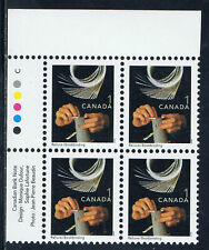 Canada #1673ii(23) 2001 1 cent BOOKBINDING Upper Left Plate Block MNH