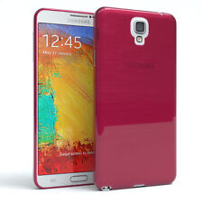 Schutz Hülle für Samsung Galaxy Note 3 Neo Brushed Cover Handy Case Pink