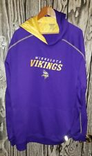 reebok nfl football hoodie men size 2xl minnesota vikings
