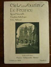 """revue """"ciels et sourires de France"""" - 1929 à 1939 : LYON / musée arts décoratifs"""