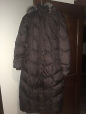London Fog Quilted Down Filled Fur Hooded Long Puffer Coat/Jacket  Womens M