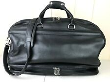 ROOTS CANADA DUFFEL CARRY ON TRAVEL GYM BAG BLACK LEATHER 20TH CENTURY FOX