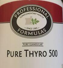 PURE THYRO 500 NEW ZEALAND GLANDULAR SUPPLEMENTS PROFESSIONAL FORMULAS THYROID