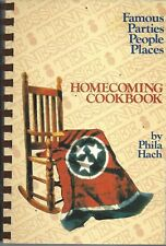 NASHVILLE TN 1985 HOMECOMING TENNESSEE COMMUNITY RECIPES COOK BOOK by PHILA HACH