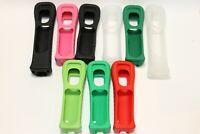 Genuine NINTENDO WII CONTROLLER REMOTE COVER CASE BLACK GREEN RED CLEAR RVL-022
