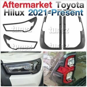 Front Rear Tail Light Lamp Cover For Toyota Hilux Mk3 2020 2021 2022 SR5 Rugged