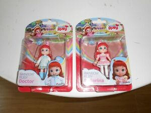 Rainbow Ruby Doll Figure X 2   DOCTOR + BALLERINA